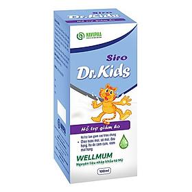 Siro ho Dr.KID hỗ trợ giảm ho, sổ mũi đau họng an toàn cho trẻ chai 100ml