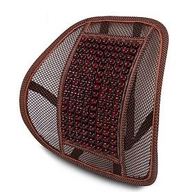 Miếng tựa lưng ghế hạt gỗ massage cao cấp