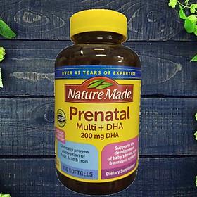 Vitamin Tổng Hợp Cho Bà Bầu Nature Made Prenatal Multi +DHA 200 mg DHA 150v của Mỹ