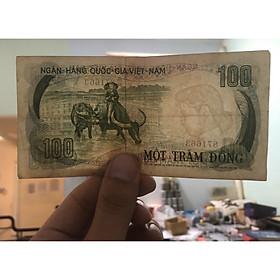 Tờ 100 đòng con trâu, bộ thú, tiền cổ Việt Nam sưu tầm