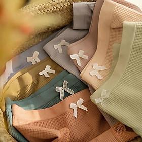 SET 5 Quần Lót Nữ Cotton Cao Cấp Viền Ren - Kiểu Nơ
