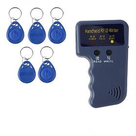 Thiết bị sao chép thẻ cầm tay RFID tần số 125kHz [ 5 móc khóa sao chép được ]hàng nhập khẩu