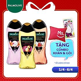 Bộ 3 chai Sữa tắm tinh dầu Palmolive Luminous Oils 400ml/chai