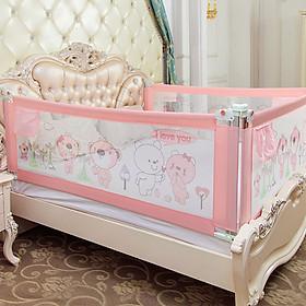 Thanh chắn giường cao cấp mẫu mới nhất  Babyqiner trượt lên xuống nút bấm hiện đại giá 1 thanh