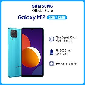 Điện Thoại Samsung Galaxy M12 (3GB/32GB) - Hàng Chính Hãng
