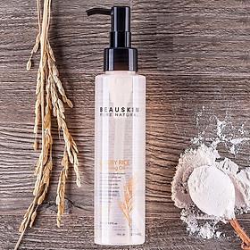 Hình đại diện sản phẩm Tẩy trang mắt môi không cồn chiết xuất dầu gạo thảo dược tự nhiên Luxury Rice Cleansing Oil Beauskin (150ml) Hàn quốc