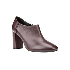 Giày Boots Nữ GEOX D AUDALIES H.B NAPPA DK BURGUNDY - Tím Đen