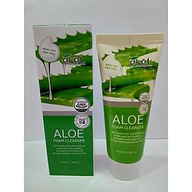 Sữa rửa mặt Nha Đam - Ekel Foam Cleanser Aloe 100ml (Tặng 2 mặt nạ Jant Blanc)