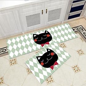Bộ 2 thảm trang trí, thảm bếp cao cấp GOO31 (40x60 cm và 40x120 cm)