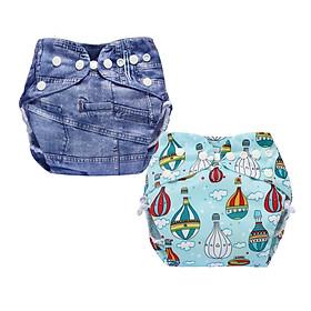 Tã vải BabyCute ban Đêm Siêu chống tràn - Mua 2 bộ tã size L (14-24kg) - Tặng 1 bỉm Cotton size 3 (15-20kg) - Giao mẫu ngẫu nhiên-1