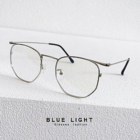 Kính Giả Cận, Gọng Kính Cận Nam Nữ Mắt Vuông Bạc Không Độ Hàn Quốc - BLUE LIGHT SHOP