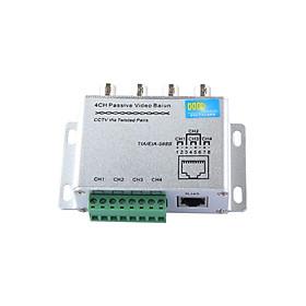 Bộ chuyển đổi tín hiệu video từ cáp đồng trục sang cáp mạng lan rj45 4 kênh - BL4CH - Hàng Chính hãng