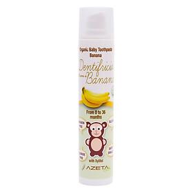 Gel Đánh Răng Vị Chuối Organic Toothpaste Banana Azeta Bio GDR001 (50ml)