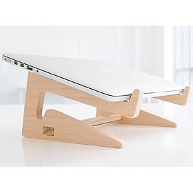 Kệ gỗ laptop gỗ thông thiết kế hiện đại cho mọi loại laptop (có túi rút)