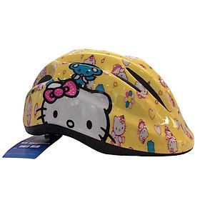 Mũ Bảo Hiểm Xe Đạp Trẻ Em, Mũ Bảo Hiểm Chơi Thể Thao, Trượt Patin Trẻ Em Cao Cấp Protec SMILE 024 Họa Tiết Hello Kitty Dễ Thương - Hàng Chính Hãng