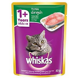 Đồ Ăn Cho Mèo Lớn Whiskas Vị Cá Ngừ 85g
