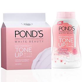 Combo Kem Sữa Dưỡng Trắng Nâng Tông Pond'S White Beauty (50g) + Phấn Phủ Nâng Tông Pond'S White Beauty (40g)