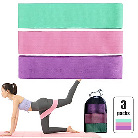 3 PCS Sports Exercise Resistance Loop Bands Set Elastic Booty Band Set for Yoga Home Gym Training