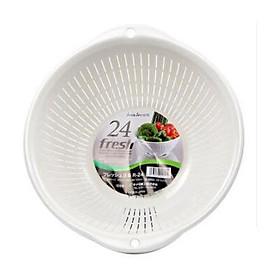 Rổ nhựa thông minh 3.6L màu trắng - Hàng Nội Địa Nhật