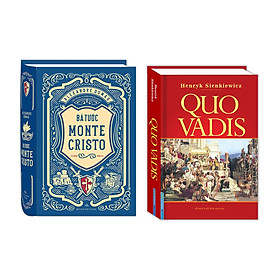 Combo Bá tước Monte Cristo (bìa cứng) + Quo Vadis (bìa cứng)