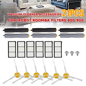 21PCS Vacuum Cleaner  For iRobot Roomba Filters 800 900