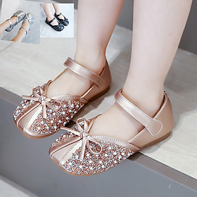 Giày công chúa cho bé gái 1 - 12 tuổi kiểu búp bê gắn kim sa lấp lánh GE69