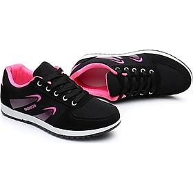 Giày nữ sneaker đen hồng siêu chất