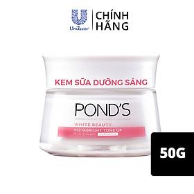 Kem Sữa Dưỡng Da 50G Pond'S Instabright Tone Up Milk Cream Chiết Xuất Protein Từ Sữa Nâng Tone Sáng Hồng Thay Thế Makeup