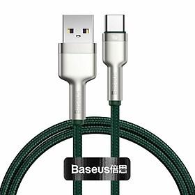 Dây sạc nhanh Baseus 40W Type C, Cáp sạc nhanh Baseus PD 40W Metal Charging Cables USB To Type-C Charger Data Line - Hàng chính hãng