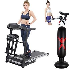 máy chạy bộ điện đa năng tại nhà skyxsport 400 tặng trụ đấm bốc boxing + đai massage rung hỗ trợ giảm mỡ + giá tập cơ bụng tăng cơ bắp, thế hệ máy chạy bộ điện hoàn toàn mới, ưu việt, gọn nhẹ, tiết kiệm diện tích, phù hợp với chung cư