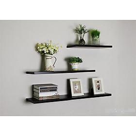 Kệ gỗ trang trí treo tường, Combo 3 thanh 60x15 cm.