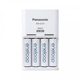 Combo 4 Pin Eneloop AA Và Sạc Panasonic BQ-CC51 - Hàng Nhập Khẩu
