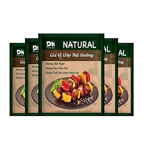 Combo 5 gói Natural Gia vị Ướp Thịt Nướng Dh Foods