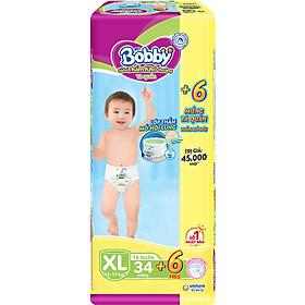 Tã Quần Bobby - Đệm Lưng Thấm Mồ Hôi XL34 (34 Miếng)- Tặng 6 Miếng Trong GóI
