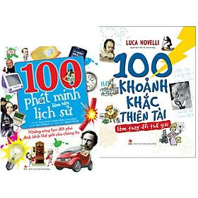 Combo sách hay về lịch sử các phát minh : 100 phát minh làm nên lịch sử + 100 khoảnh khắc thiên tài làm thay đổi thế giới -- Combo sách tạo nên sự ngạc nhiên và cảm hứng sáng tạo cho các con- Tặng kèm bookmark thiết kế