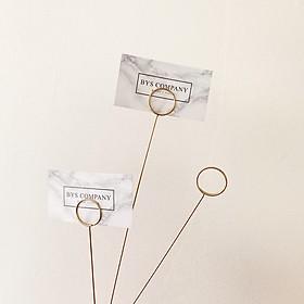 Kẹp giấy note, tài liệu, hình ảnh, card bằng thép không gỉ phong cách bắc âu - 34x3cm ( Set 10 cái )