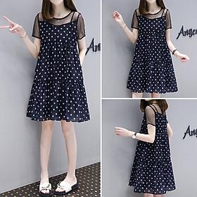 Đầm suông nữ ARCTIC HUNTER Thiết kế ren xếp từng db10