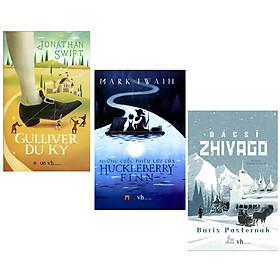Combo Bộ 3 Tác Phẩm Kinh Điển Nổi Tiếng Thế Giới: Gulliver Du Ký + Bác Sĩ Zhivago + Những Cuộc Phiêu Lưu Của Huckleberry Finn (3 Cuốn - Tặng Kèm Bookmark Green Life)