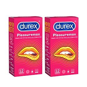 Combo 2 Bao cao su Durex Pleasuremax Hộp 12 Bao