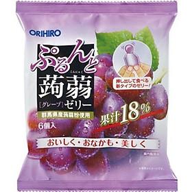 Combo 6 gói Thạch trái cây Orihiro vị Nho tím 120gr
