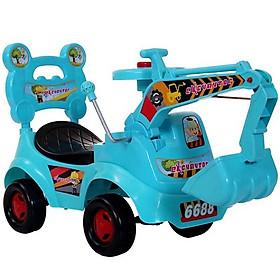 Xe cẩu chòi chân cho bé yêu - màu xanh