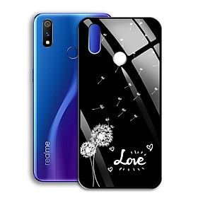 Ốp Lưng Kính Cường Lực cho điện thoại Realme 3 Pro - 0367 7890 BOCONGANH07 - In hình hoa bồ công anh - Hàng Chính Hãng