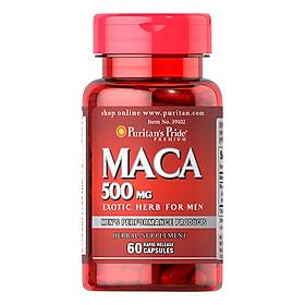 Thực Phẩm Chức Năng - Viên Uống Tăng Cường Sinh Lực Puritan'S Pride Primium Maca Exotic Herb For Men 500Mg (60 Viên)