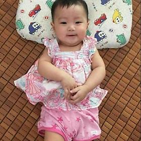 Gối cao su non cho bé sơ sinh chống bẹp đầu  từ 0 đến 12 tháng