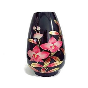 Bình bắp sơn mài hình hoa lan