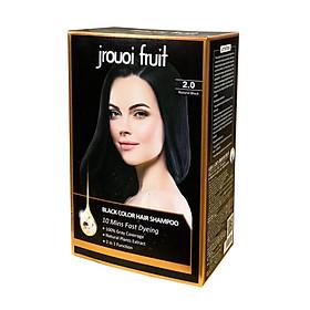 Dầu Gội Đen Tóc Phủ Bạc Thảo Dược JROUOI FRUIT (Hộp 8 gói 15ml + Găng tay)