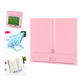 Portable Plastic Book Stand Foldable Book Document Holder Adjustable 6 Angles Bookstand Desk Reading Kitchen Stand for