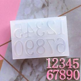 Khuôn silicone làm chữ và số, khuôn làm bánh.