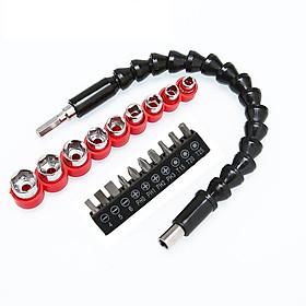 Bộ Tháo Vít tháo Bulong 20 Chi Tiết có dây nối dài dùng cho máy khoan pin, máy bắt vít