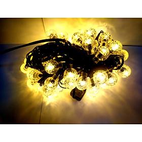 Dây đèn Led Trang trí Bi bọt nước nhỏ 80 bóng không nháy - màu vàng ấm